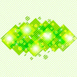 Royalty-Free Stock Imagen vectorial: Vector illustration of a green abstract background. eps10