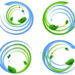ilustração em vetor de um conjunto de um elemento de design ambiental — Vetorial Stock