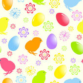 Vector illustration of a seamless easter background — Stock Vector