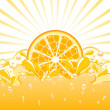 Vector illustration of an orange splash - Stock Vector