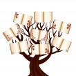 Vector illustration of a tree with the books - Stock Vector