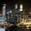 Singapour de nuit — Photo