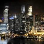 Singapour de nuit — Photo