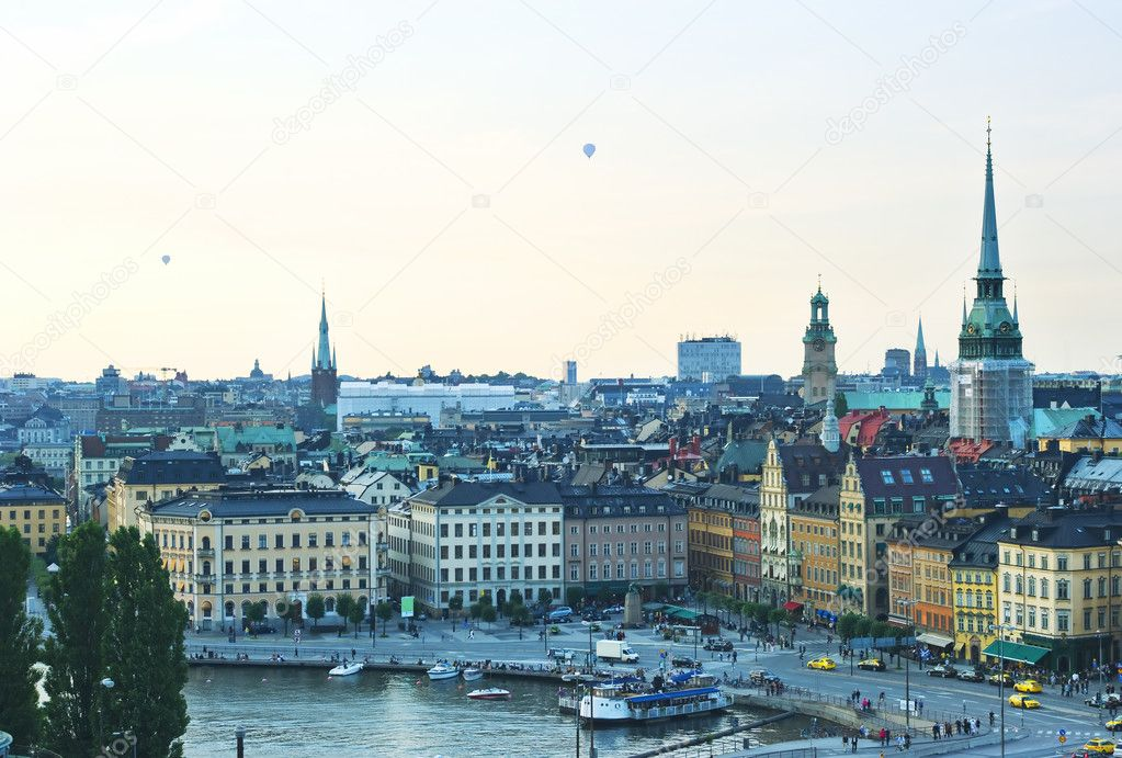 Aerial view of  Stockholm, Sweden — Stock Photo #5875487