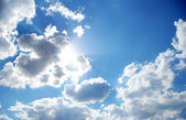 Clouds and sun — Stock Photo