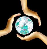 Recycling symbool — Stockfoto