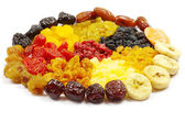 Dried fruits collection — Stock Photo