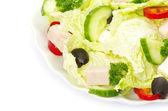 プレートのサラダ — ストック写真