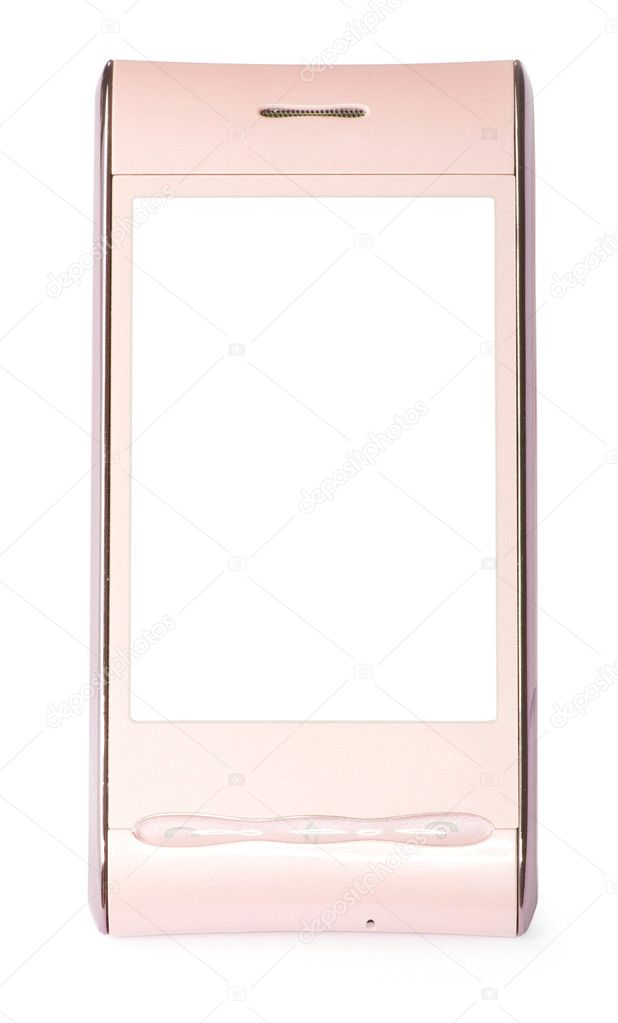 Touchscreen smartphone isolated on white  Stock Photo #5552735