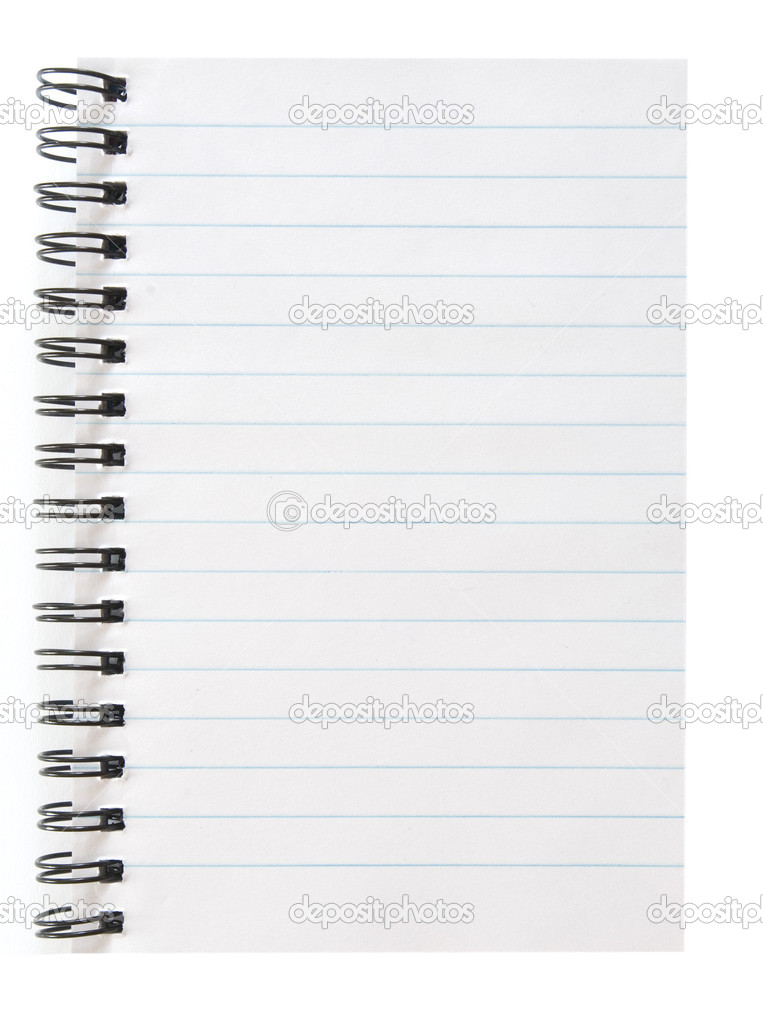 Blank spiral notepad isolated on white — Stock Photo #5553055
