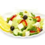 Salad on white — Stock Photo #5687273
