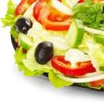 Salad on white — Stock Photo #5687283