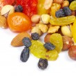 Stock Photo: Dried fruits on white
