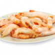 Shrimp on a white - Foto de Stock  