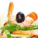 Salad on white — Stock Photo #5748379