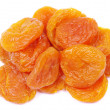 Stock Photo: Apricots over white
