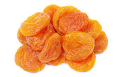 Apricots over white — Stock Photo