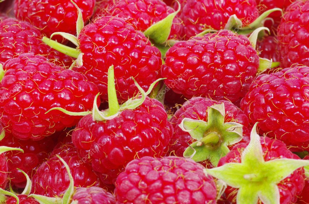 Sweet fresh raspberry close up — Stock Photo #6645096