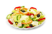 Salad on white — Stock Photo