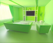 Green interior design — Stock Photo