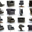 Stock Photo: Black chairs