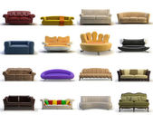 3d sofa — Stock Photo
