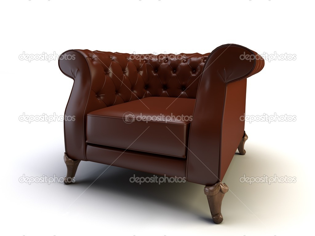 Classic 3d chair on the white background  Stock Photo #5776582