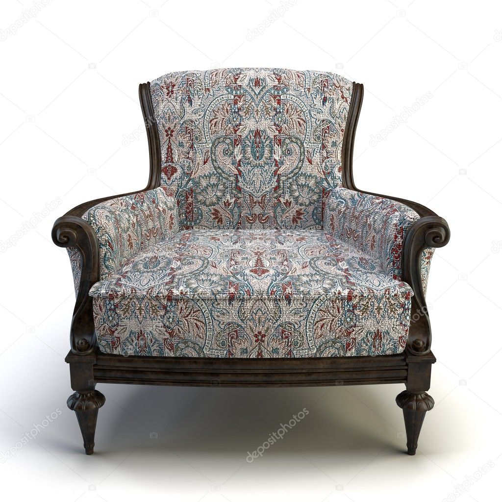 Classic 3d chair on the white background  Stock Photo #5802767