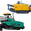 Stock Photo: Asphalt spreading machines