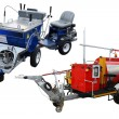 Stock Photo: Traffic lane markings machines
