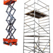 Stock Photo: Scaffold and lift