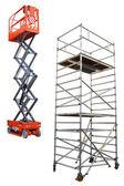 Byggnadsställning och lyft — Stockfoto