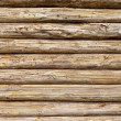 Wooden logs wall of rural house background — Foto de Stock