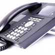 Office IP telephone with LCD — Stock Photo