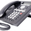 Stok fotoğraf: Office IP telephone isolated on white