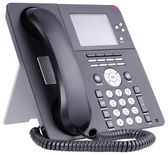 Office IP telephone on white — Stockfoto