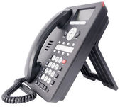Office IP telephone on white — Stock Photo