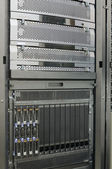 Rack mounted blade servers — Stock Photo