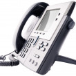 Стоковое фото: IP telephone isolated on white