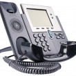 Stock Photo: IP telephone off-hook