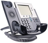 IP telephone off-hook — Foto Stock