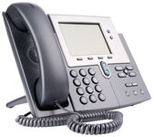 Office IP telephone on white — Foto de Stock