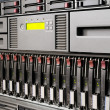 Rack mounted IT equipment — Stock Photo