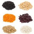 Six kinds of beans — Stock Photo