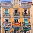 Wall drawing on a building. Tarragona. Spain. — Stock Photo