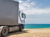 Truck on vacation — Stock Photo