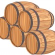 Wooden barrels. — Stock Photo