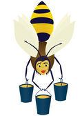 абстрактный пчела. — Стоковое фото