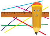 Jolly pencil. — Stock Photo