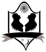 Zodíaco de gêmeos de título de ícone. — Fotografia Stock